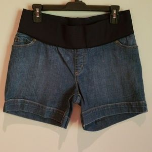 Maternity jean shorts size S